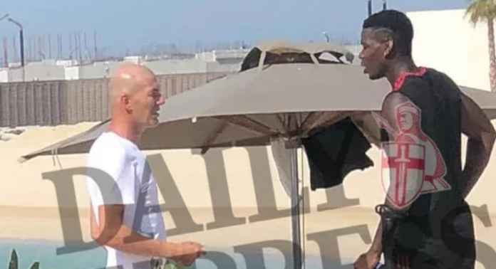 Setan Merah Kaget, Saat Pogba Ketahuan Jumpai Zidane